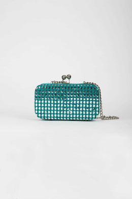 Evening Clutch Minaudiere Turquoise