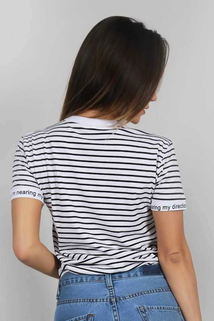Simply Stripes Tee | Raw Orange