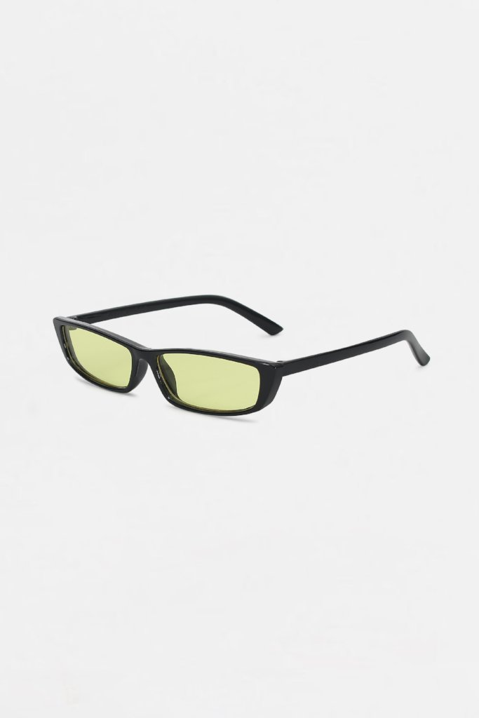 Retro Green Tinted Square Frame Sunglasses