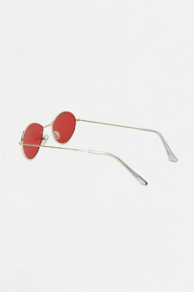 Red Ovoid Frame Sunglasses