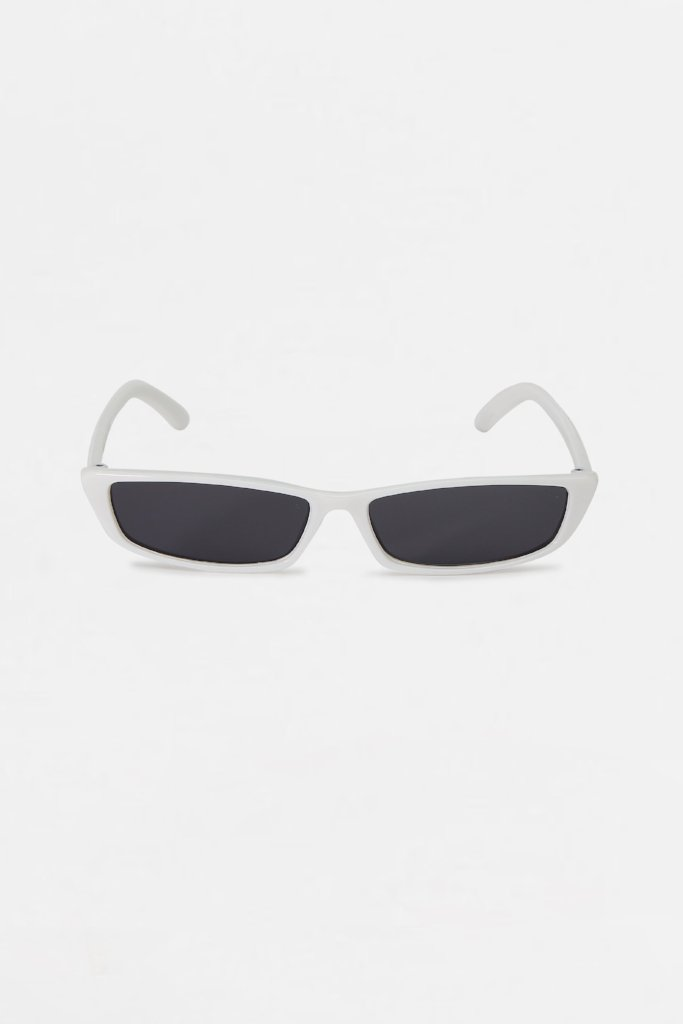Retro White Frame Square Sunglasses
