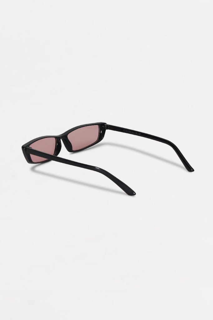 Retro Pink Tinted Square Frame Sunglasses