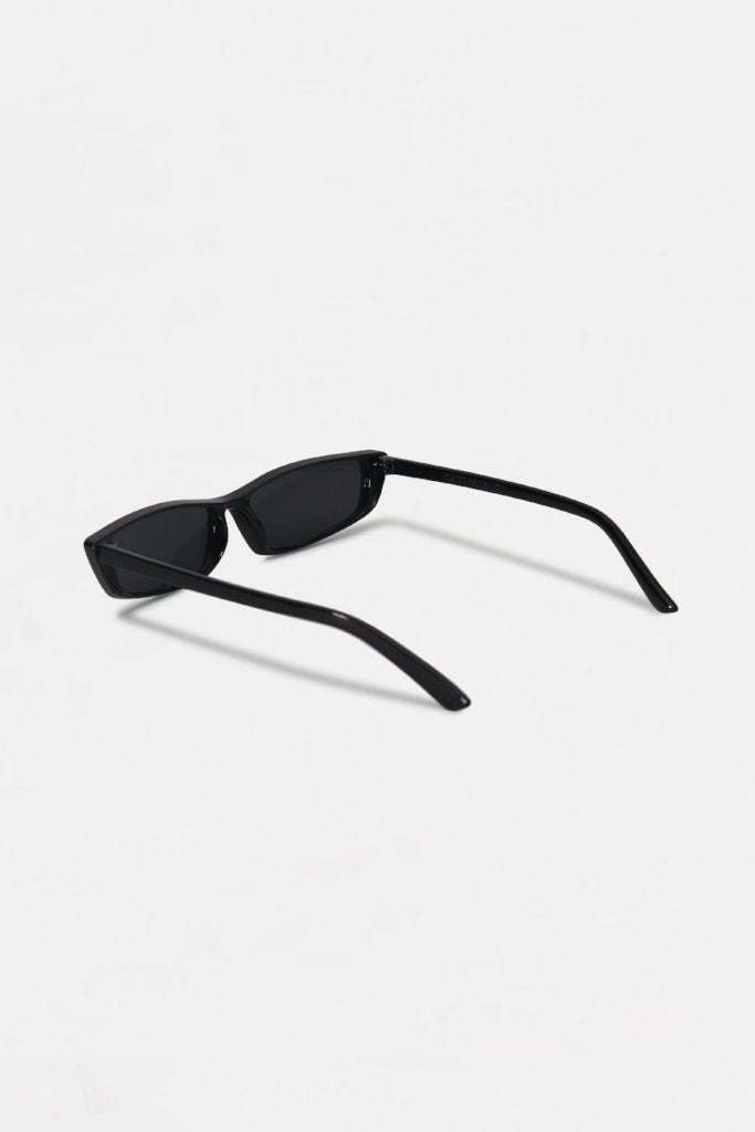 Retro Black Square Frame Sunglasses | Raw Orange