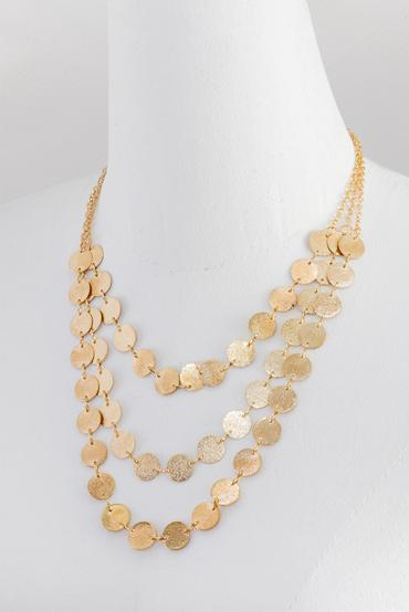 Layered Necklace - Gold | Raw Orange
