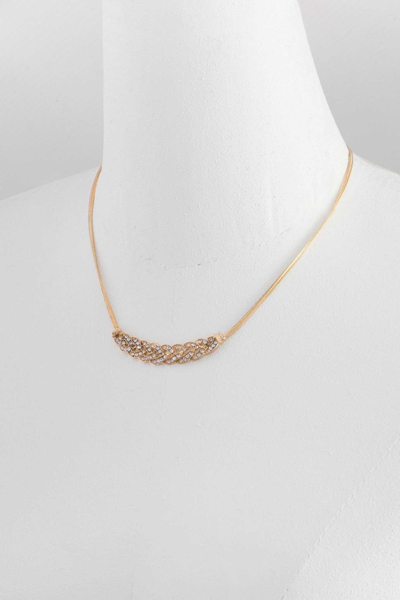 Cross design Necklace | Raw Orange