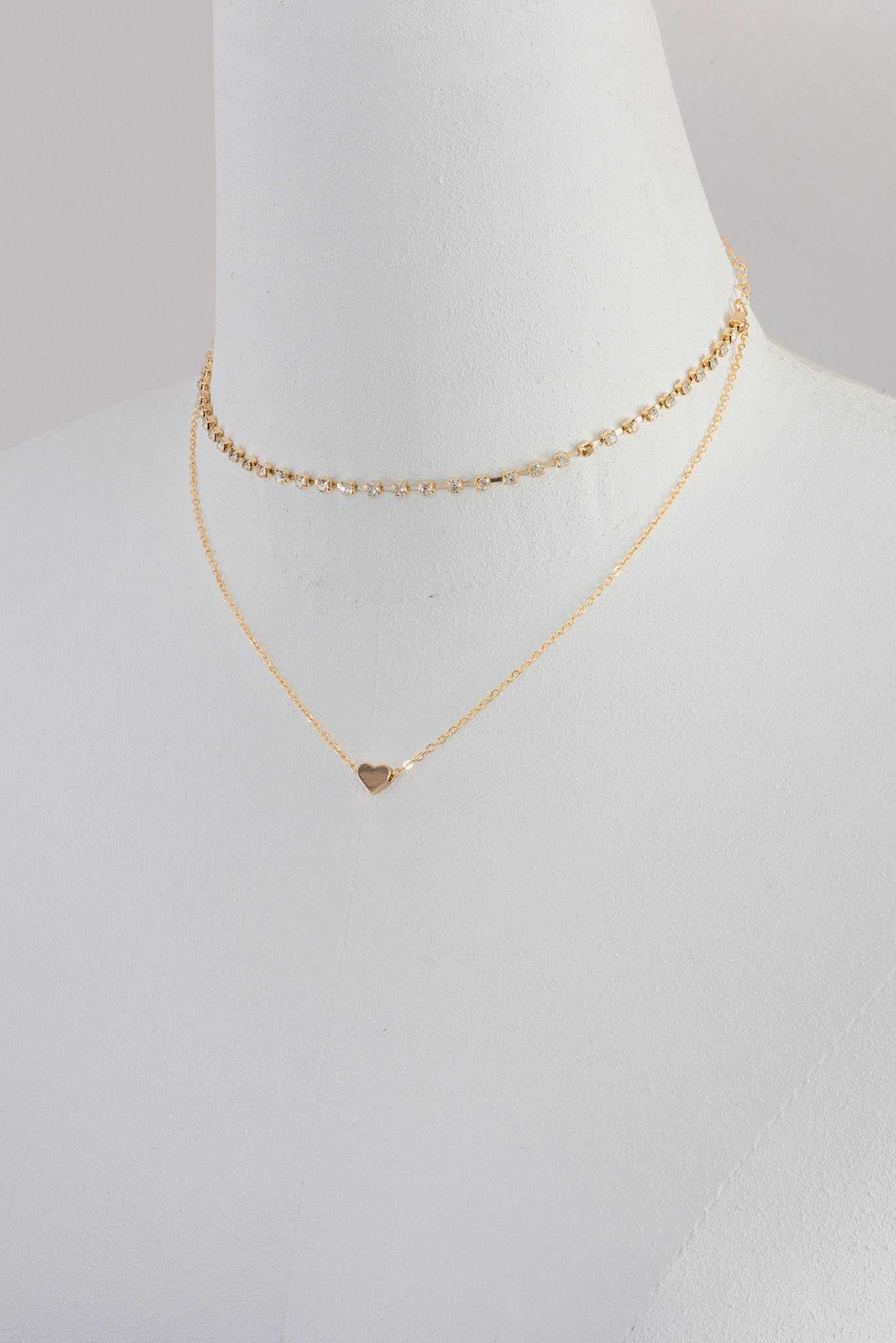 Heart Pendant and Choker | Raw Orange