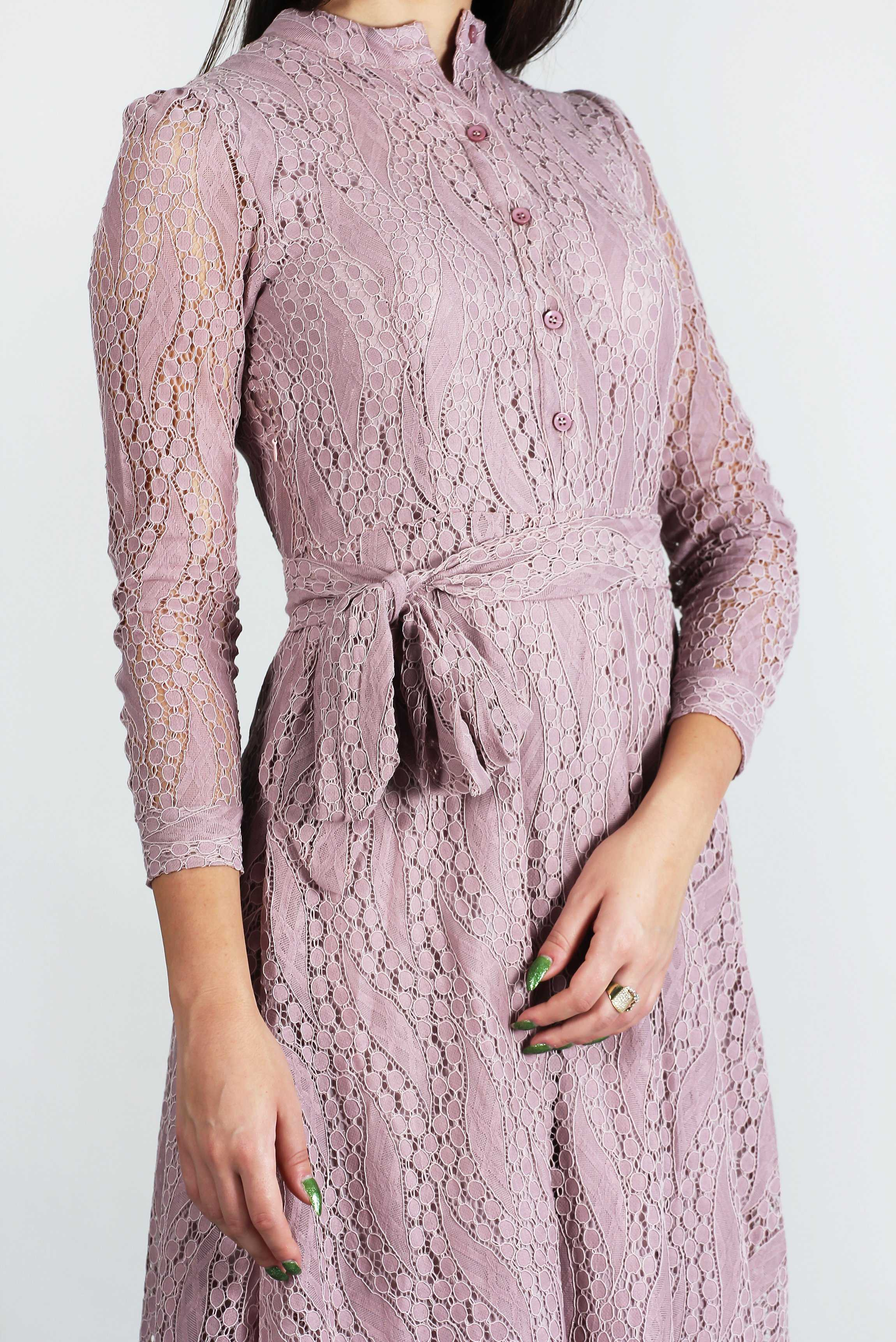 Alya Lace Dress | Raw Orange