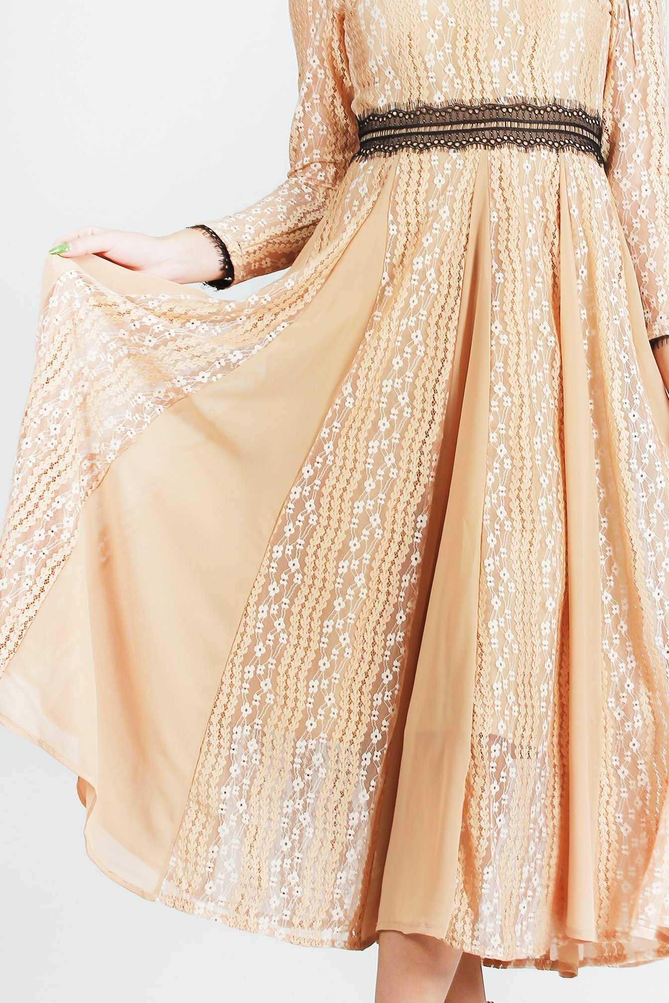Lacey Macey Dress Brown | Raw Orange