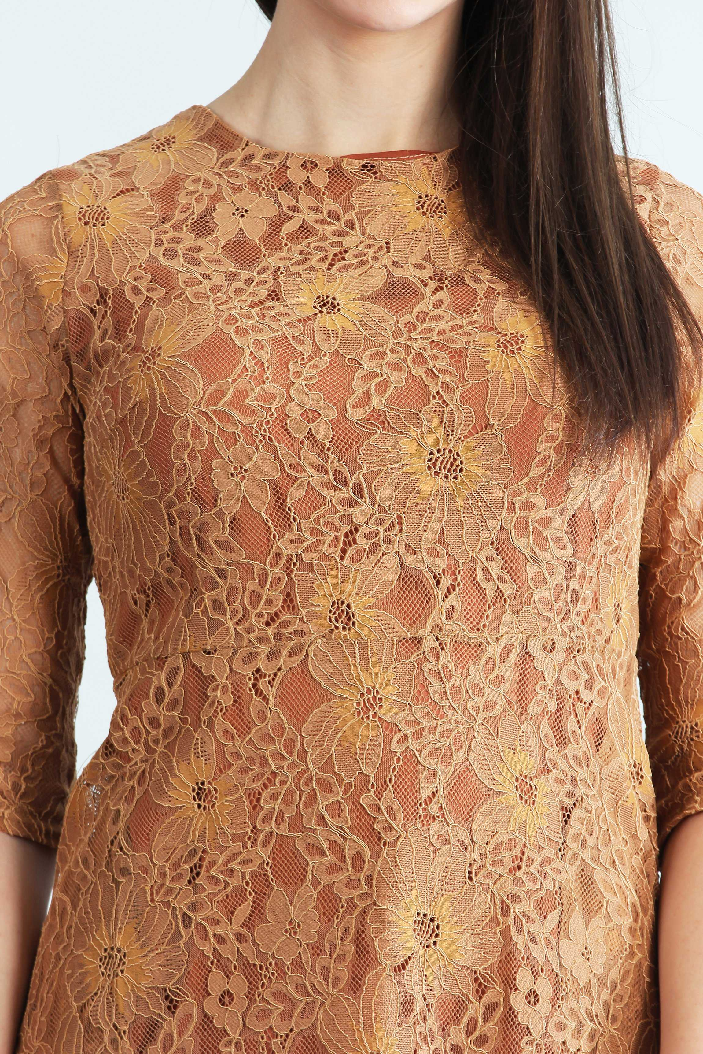 Safa Lace Affair | Raw Orange
