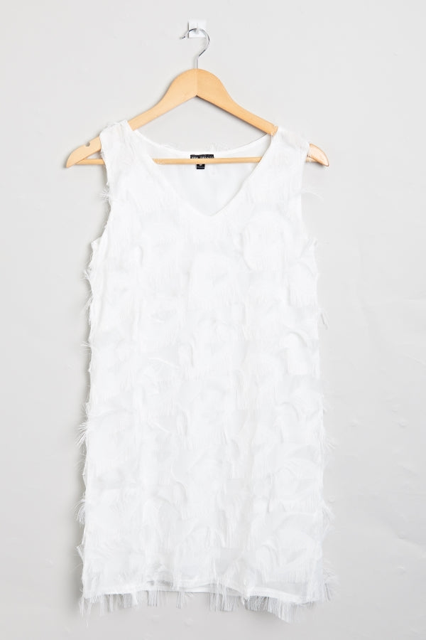 Stella Frill Dress White