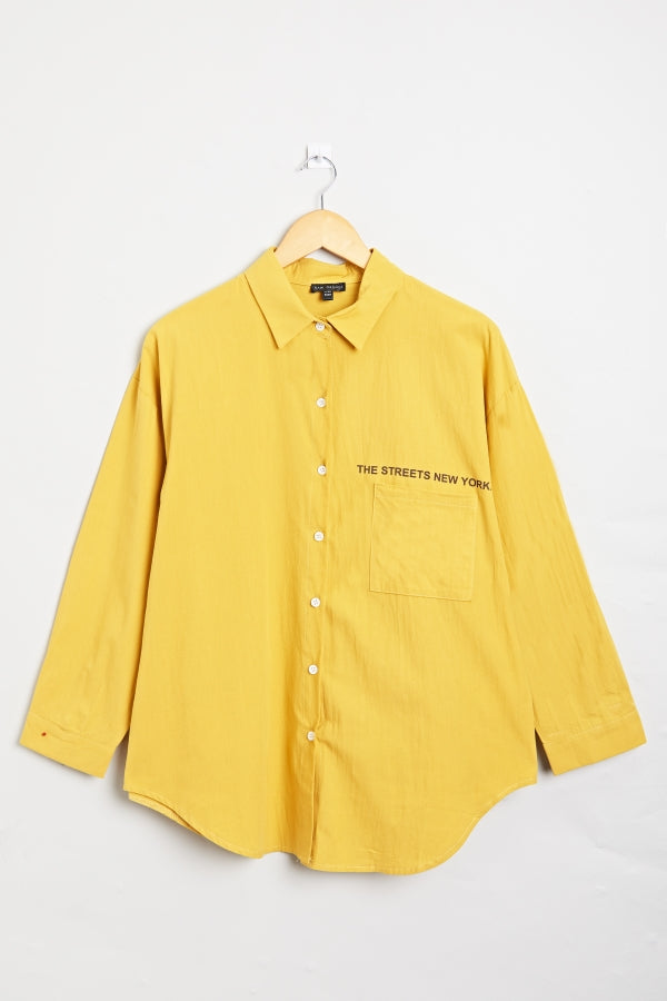 New York Shirt Yellow | Raw Orange