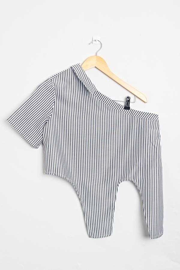 Summer Love Stripes Top | Raw Orange