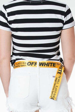 Slogan Belt Yellow