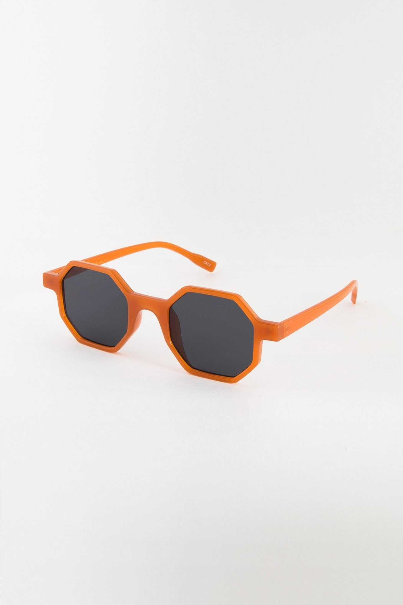Red Funky Glasses | Raw Orange