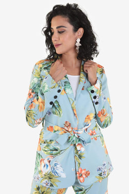 Co-ord Set Blazer - Floral