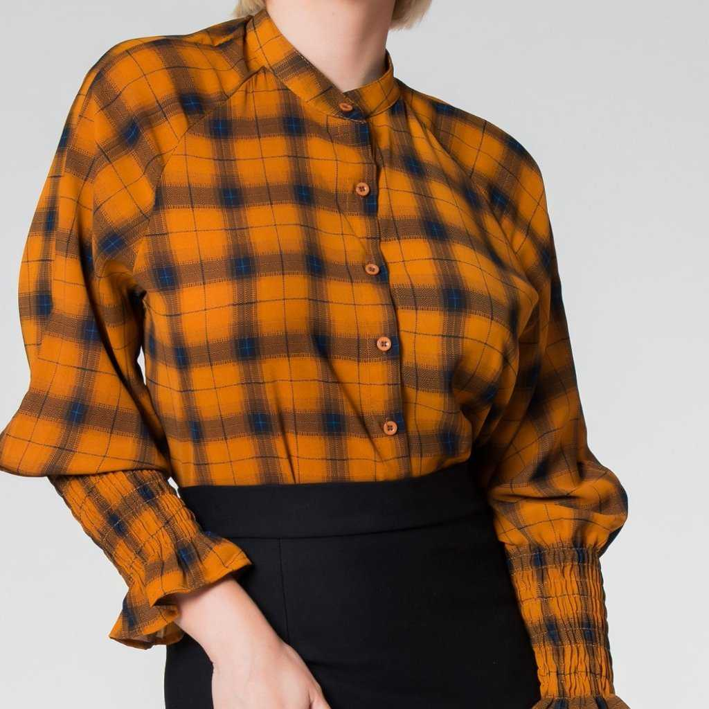Chi Chi Checkered Blouse
