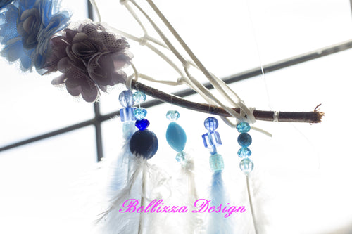 Blue Ocean Dreams Crescent Moon DreamCatcher