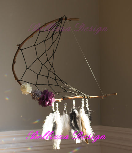 Midnight Dreams Crescent Moon DreamCatcher