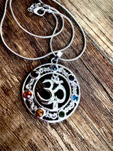 OM Pendant with Chakra colours