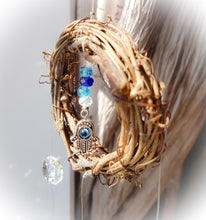 Evil Eye Hamsa Crystal Suncatcher