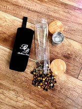 Bamboo & Glass Tea Infuser/ Water Bottle with Tiger Eye Crystals