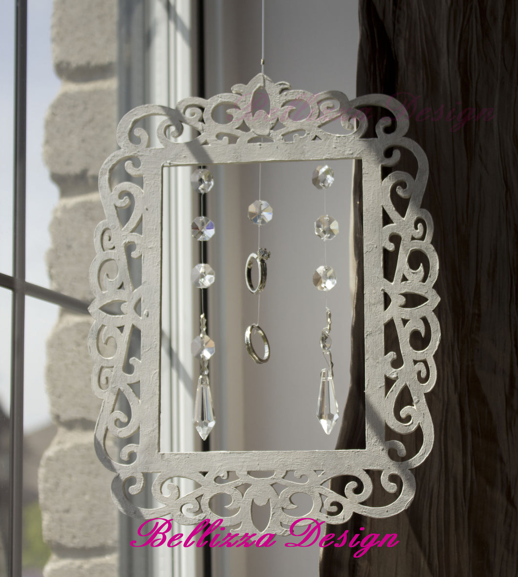 Shabby Chic Victorian Frame With Ring Crystal SunCatcher