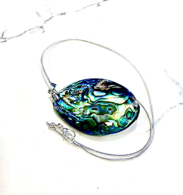 Abalone Shell Pendant With Necklace