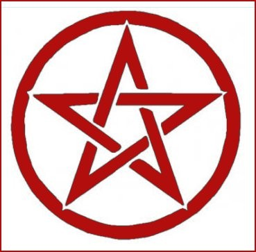 Pentacle decal - red