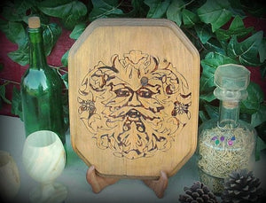 Green Man Plaque