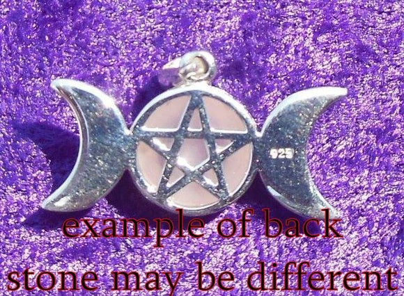 SS Triple Goddess w/ Lapis Pendant, Hidden Pentacle