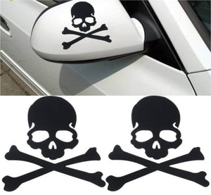 Skull & Crossbones Decal - Black