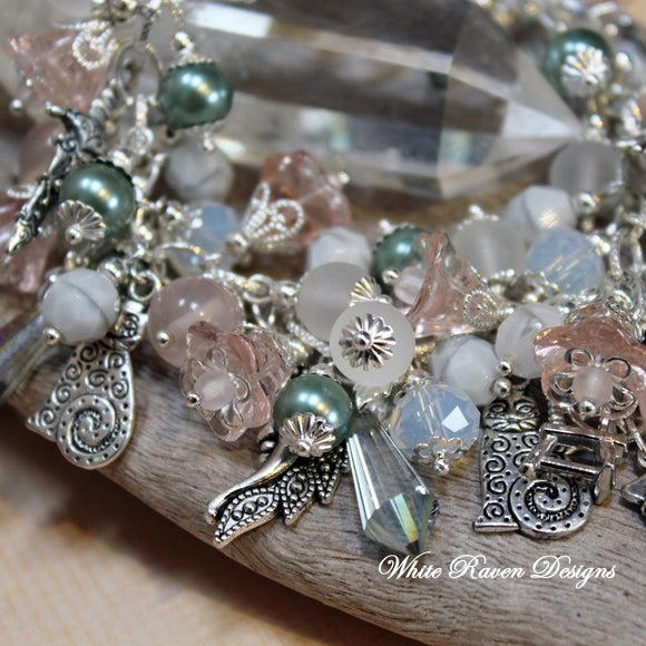 Beaded charm bracelet - Norse Goddess FREYA - Lover and Warrior Goddess - Vikings - Valhalla - Mythology