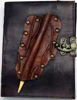 Leather blank book Pencil Closure