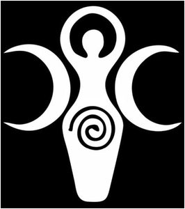 Spiral Goddess decal - silver