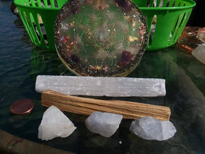 Metatron orgone generator charging plate meditation kit