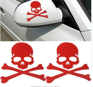 Skull & Crossbones Decal - Red
