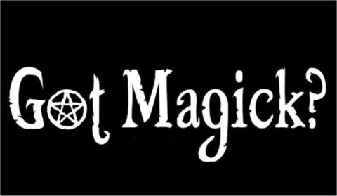 Got Magick? Decal - Silver