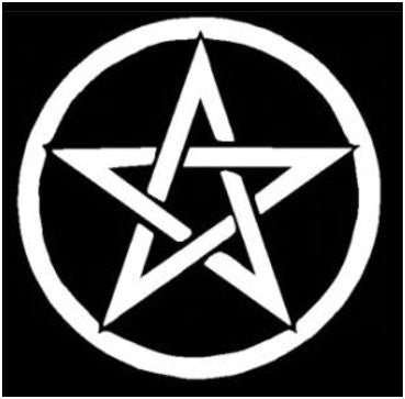 Pentacle decal - white