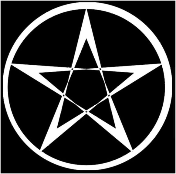 Pentacle large decal - silver