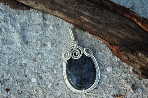 Ursula Larvikite Amulet~To invoke your inner Sea Witch