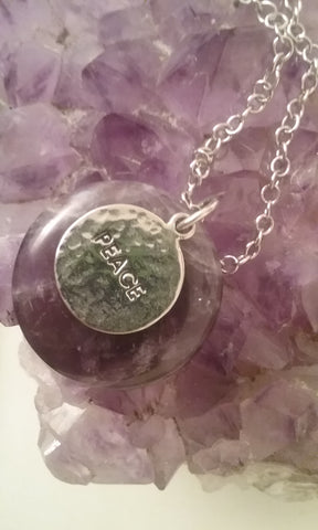 Amethyst Peace Necklace