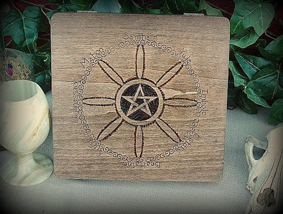 Sabbat Wheel Keepsake Box