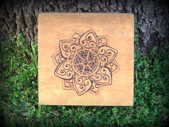 Celtic Lotus Keepsake Box