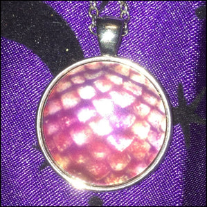 Pink Dragonscale Necklace