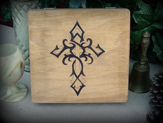 Tribal Cross Keepsake Box