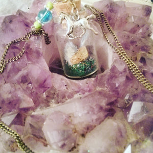 Horse Totem Charmed Bottle Necklace