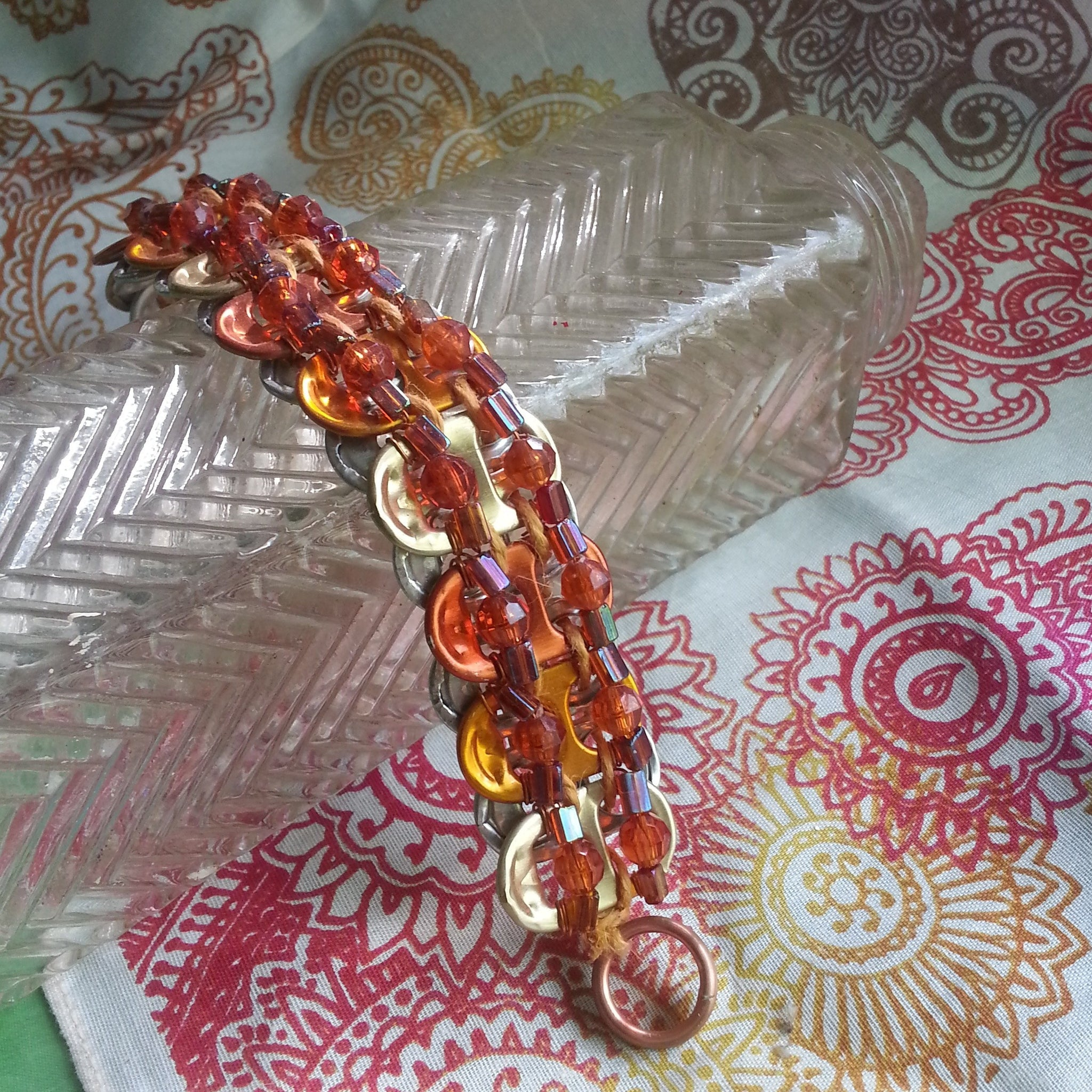 Sunset Fire Tabistry Bracelet