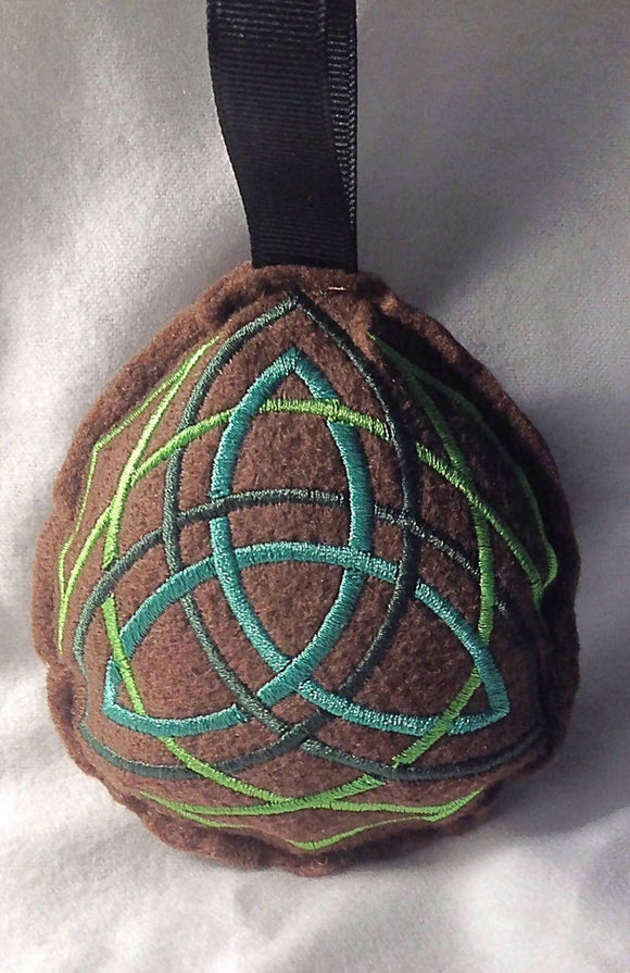 Embroidered TriKnot Stuffie/Ornament