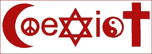 Coexist decal - red