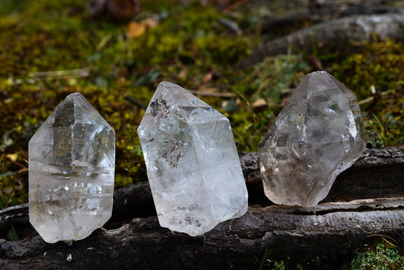 Tibetan Quartz Points with Enhydros~For Freedom, Expansion & Grounding